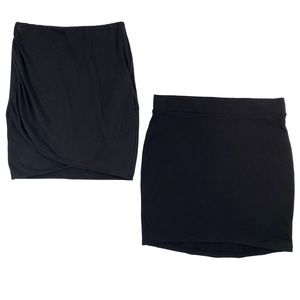 2 Skirt Bundle - Divided Size S Black Mini Skirts